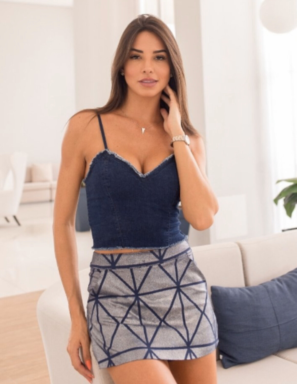 Patterned Skort (Skirt/Shorts)