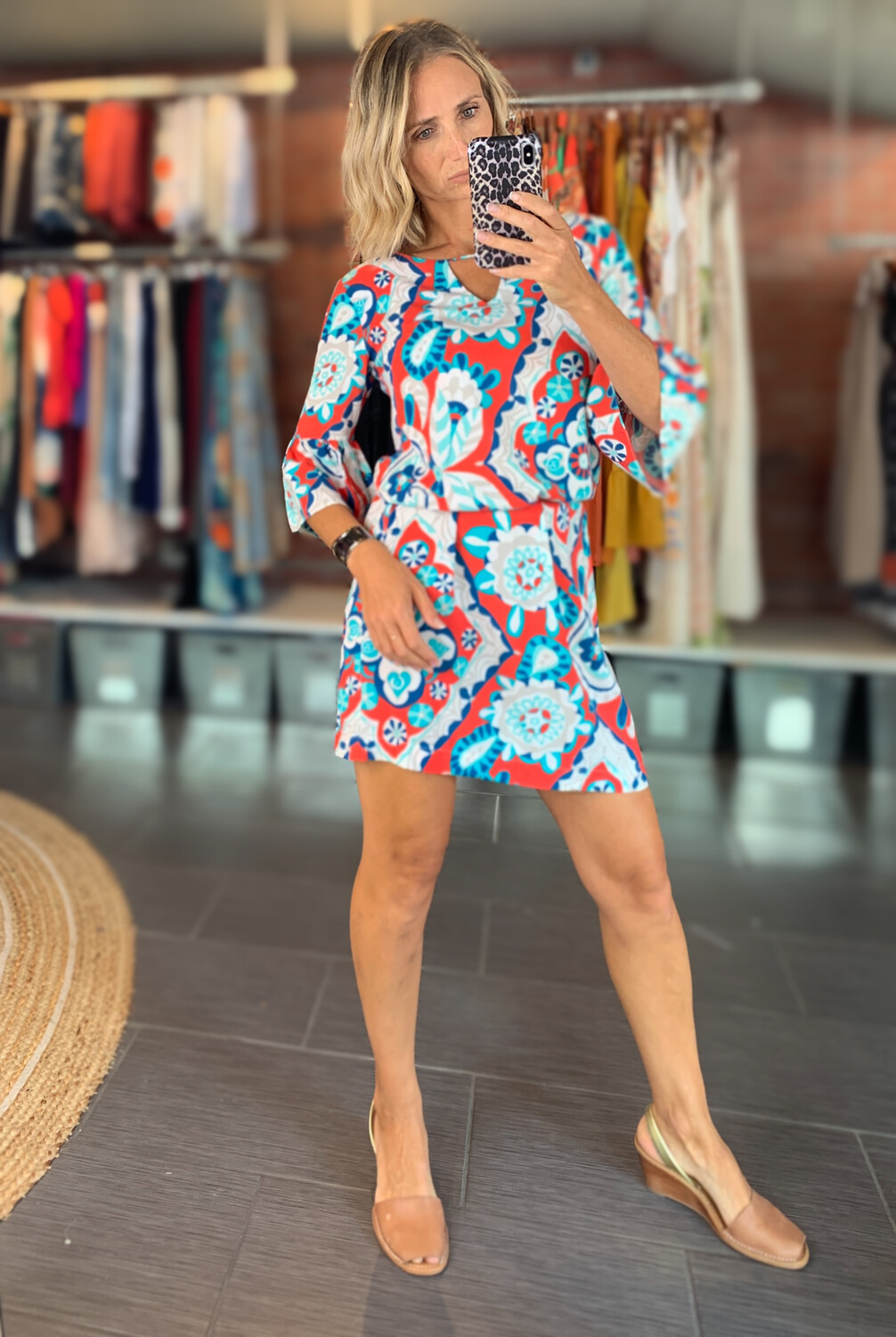 Loose Fitted Patterned Summer Dress