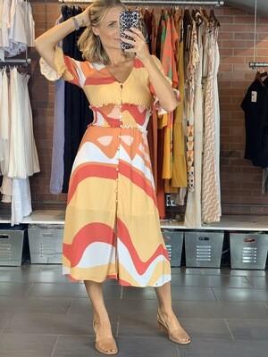 Multicolor Viscose Summer Dress
