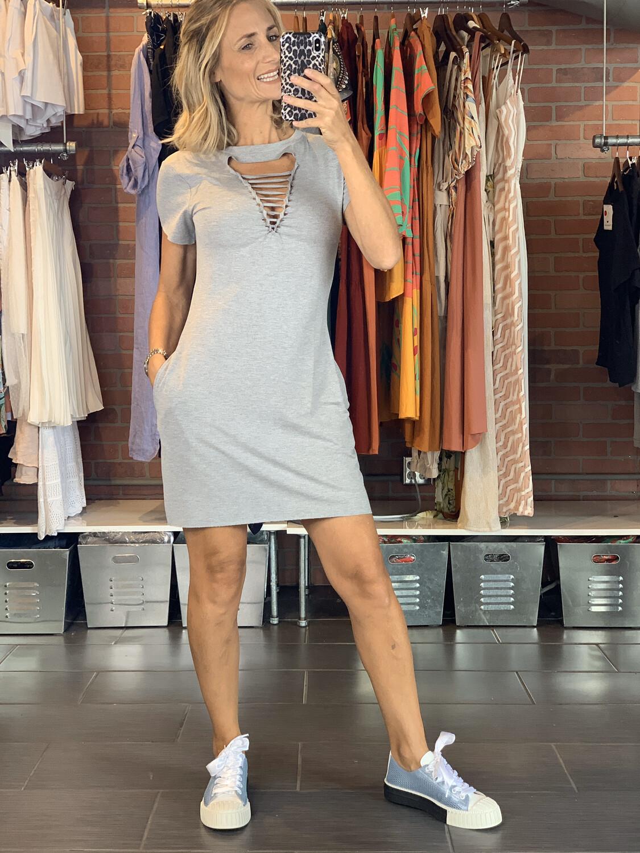 Ripped V-Necked Comfy Dress