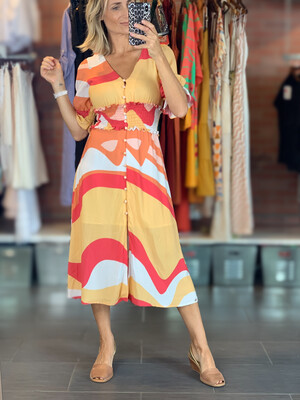 Colorful Viscose Dress