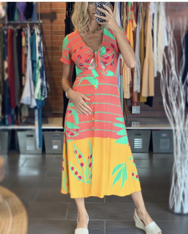 Viscose Midi Summer Dress
