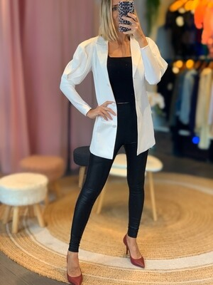 Long Puff Sleeves Blazer Dress