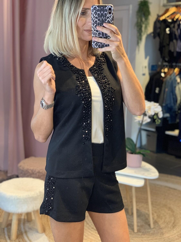 Hand Embroidered Shorts & Vest Set