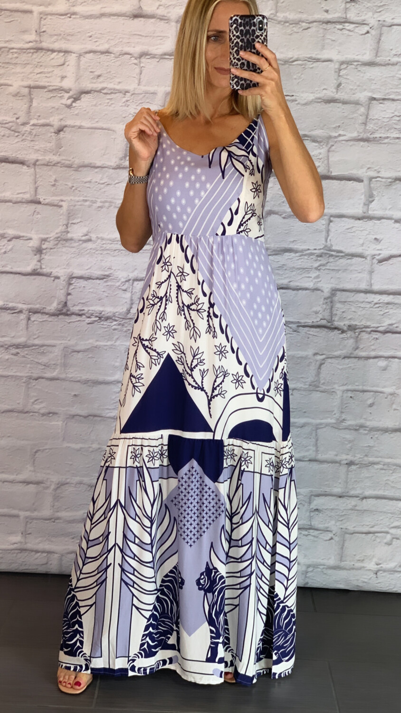 Blue Viscose Dress