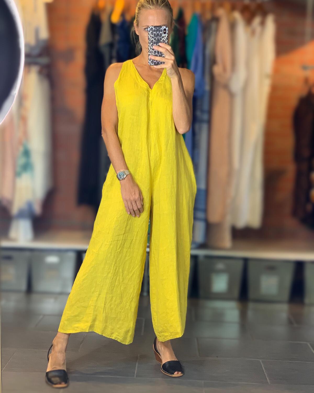 Linen Jumpsuit - one size