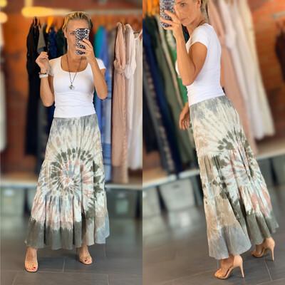 Cotton Tie Dye Long Skirt (4 colors)