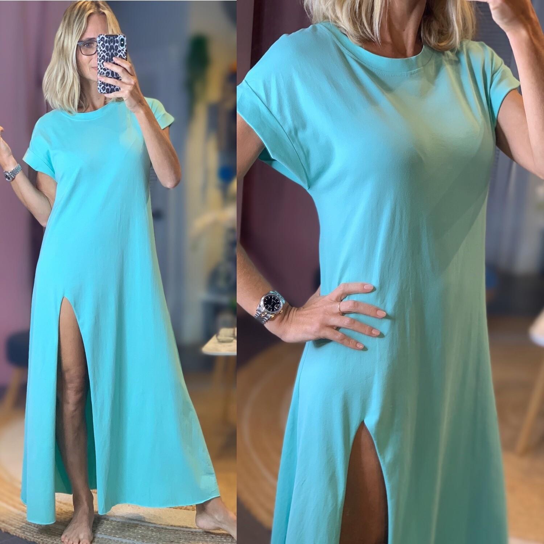Cotton T-shirt Long Dress - One Size
