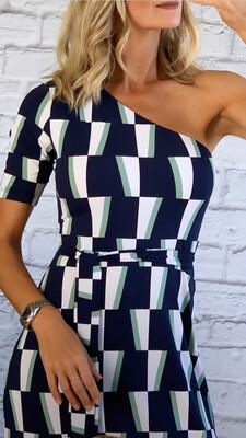 Off The Shoulder Patterned Dress.