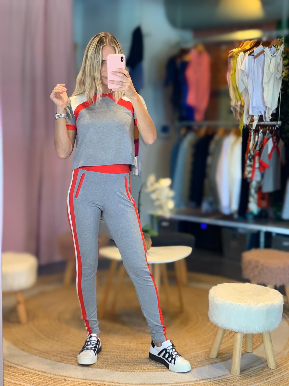 Tricolor Long Pants Set