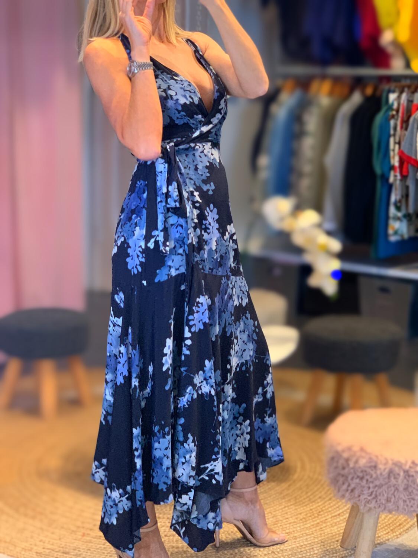 Floral Envelope Asymmetric Dress