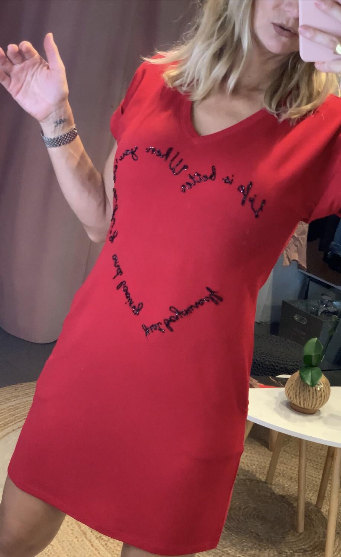 Heart Shirt Dress