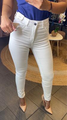 White High Waisted Jean Pants