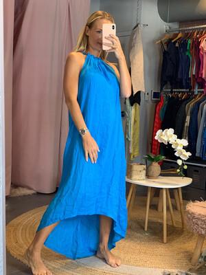 Solid Halter Linen Dress