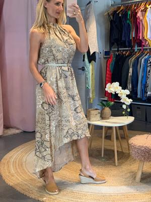 Halter Linen Dress