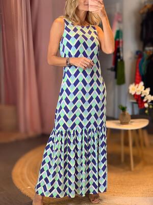 Geometric Maxi Fluity Dress (SPF 50+)