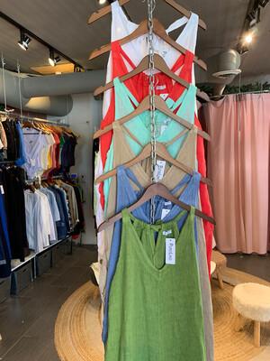 Solid Color Linen Jumpsuit