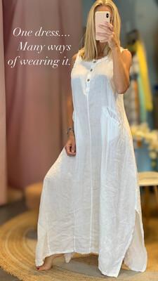 Rustic Linen Dress