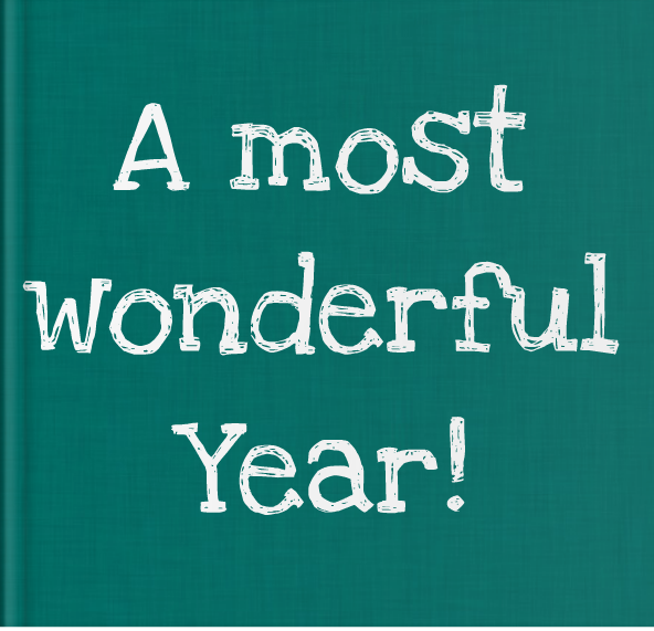 Booky Wooky Personalised Board Books 'A Most Wonderful Year'
