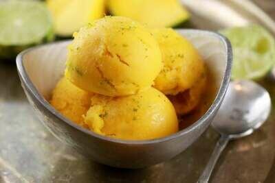 Înghețată cu mango si lime fara zahar