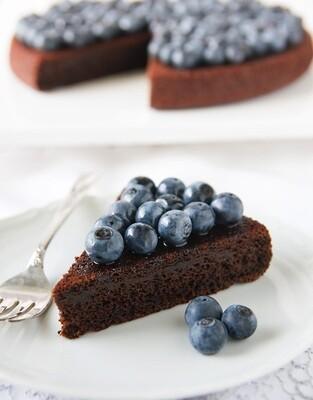 Tarta cu afine si ciocolata fara zahar
