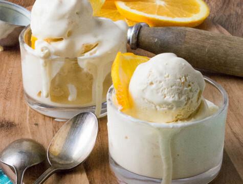 Inghetata cu portocale fara zahar