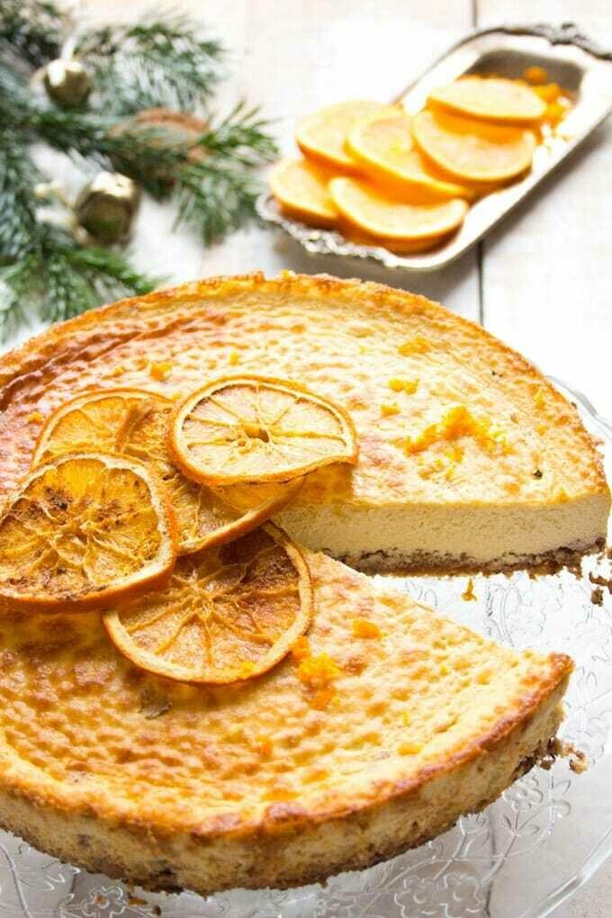 Cheesecake de portocale cu brandy