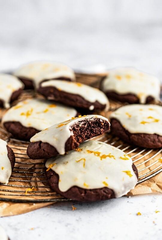 Cookie cu ciocolata si portocale