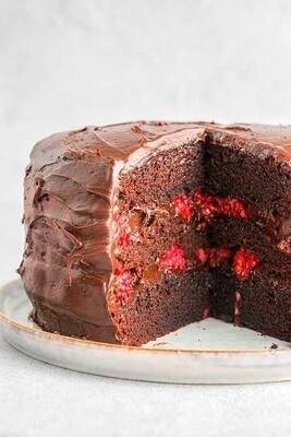 Tort de ciocolata si zmeura keto (fara lactate)