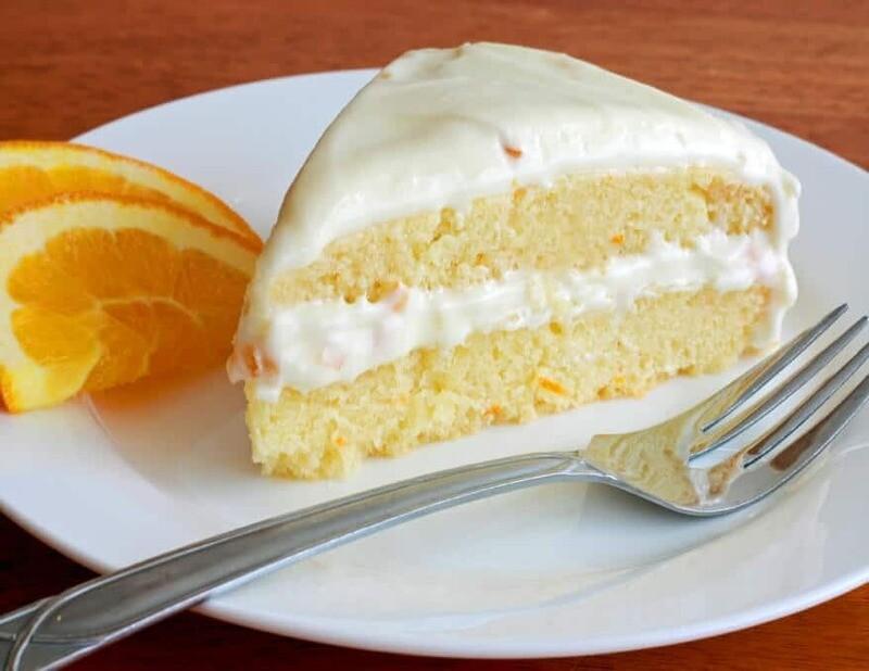 Tort de portocale cu crema de branza