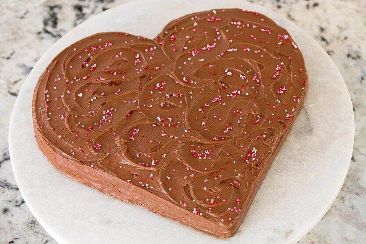 Tort inima de ciocolata keto