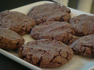 Cookie cu unt de migdale, ciocolata si faina de cocos