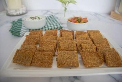 Crackers picanti cu seminte de in