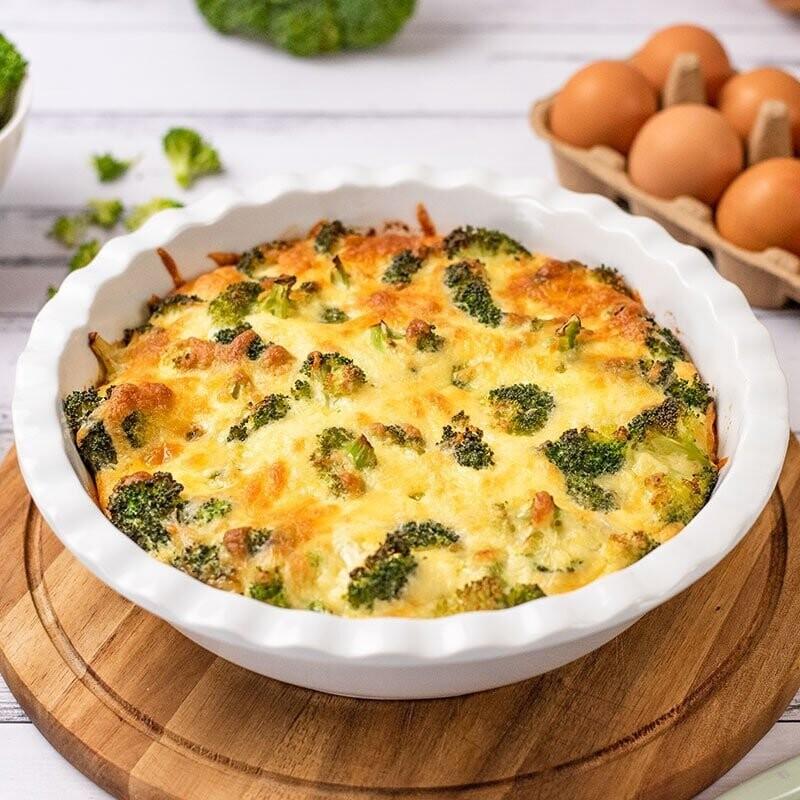 Quiche cu broccoli keto