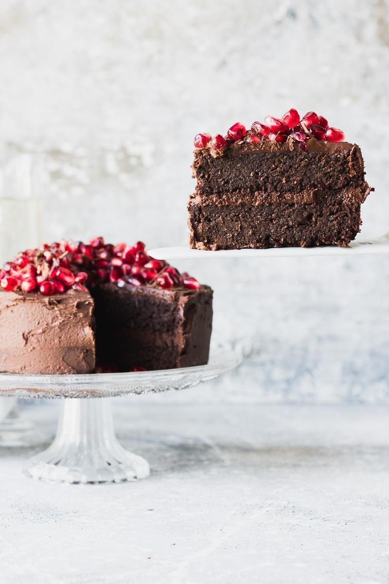 Tort de ciocolata cu rodie (fara lactate)