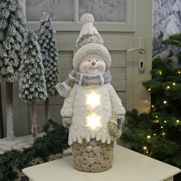 Sneeuwman met verlichting