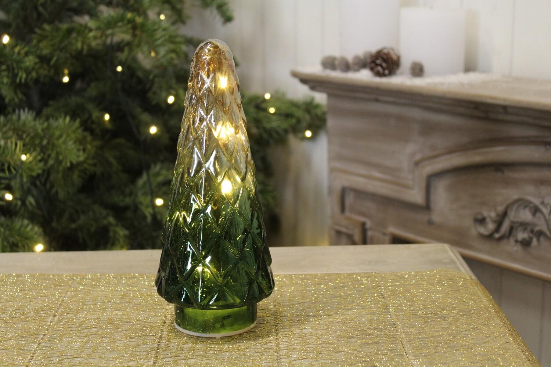 Boompje in glas met verlichting (klein)