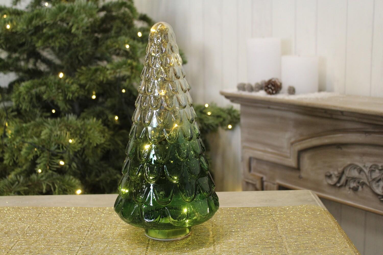 Boompje in glas met verlichting (groot)