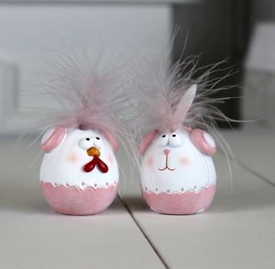 Setje kip & konijn klein