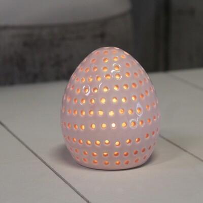 Porseleinen ei met LED klein