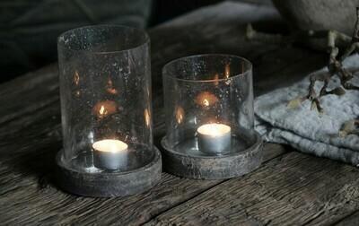 Glazen Windlicht / Pot met deksel Large