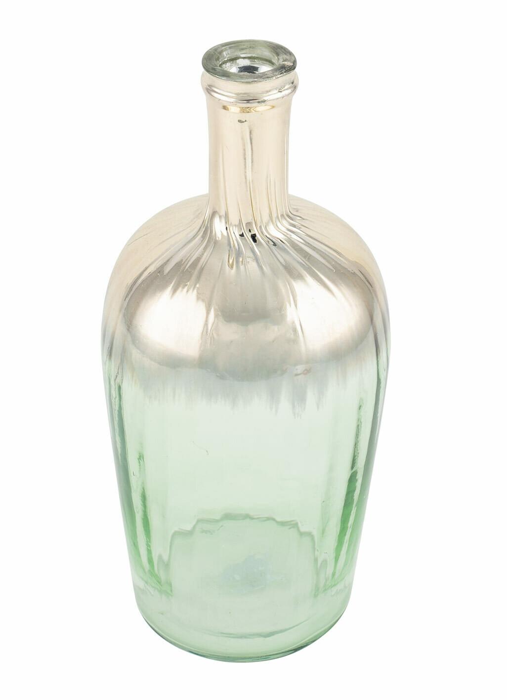 Vaas glas groen/goud klein