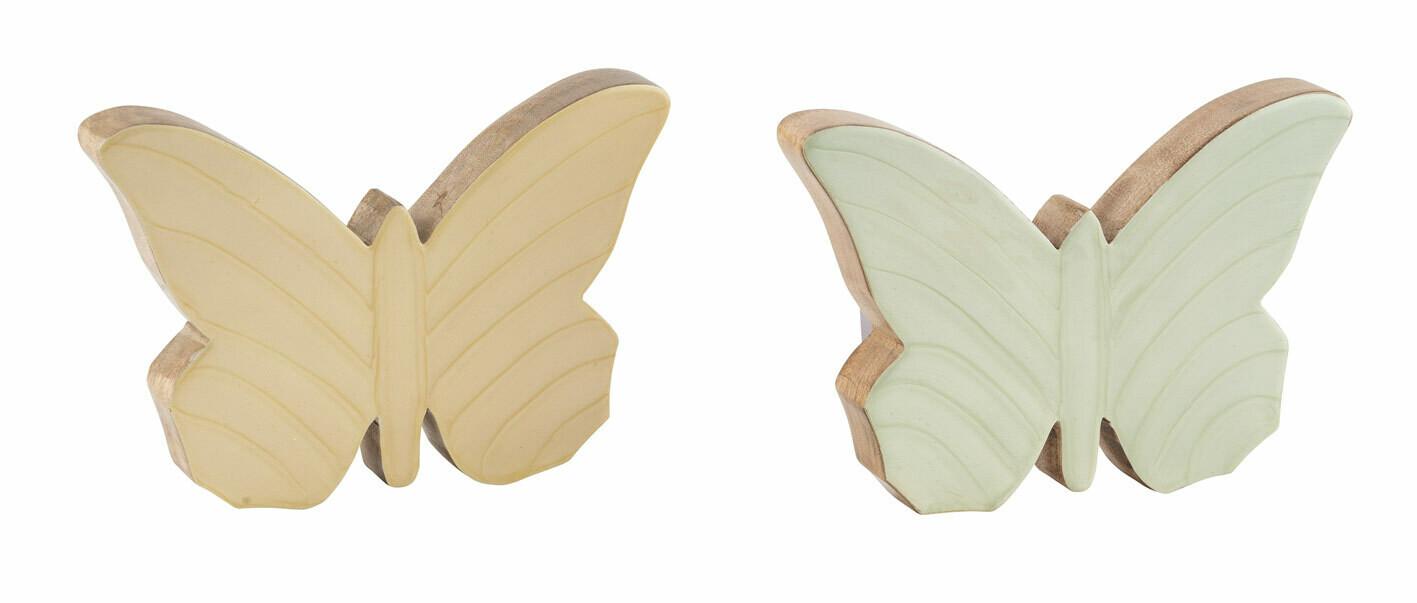 Vlinder mangohout geel small