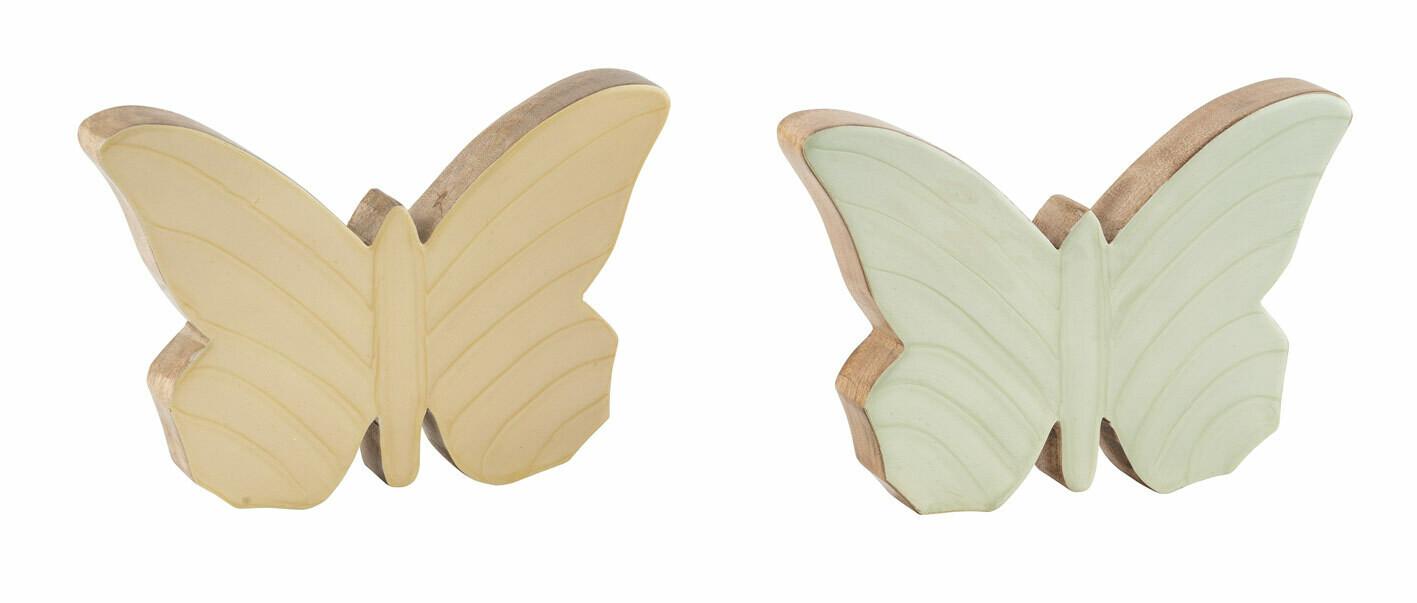 Vlinder mangohout geel medium