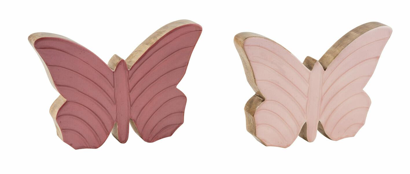 Vlinder mangohout lichtroze large