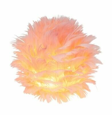 LED-bal staand roze veertjes klein