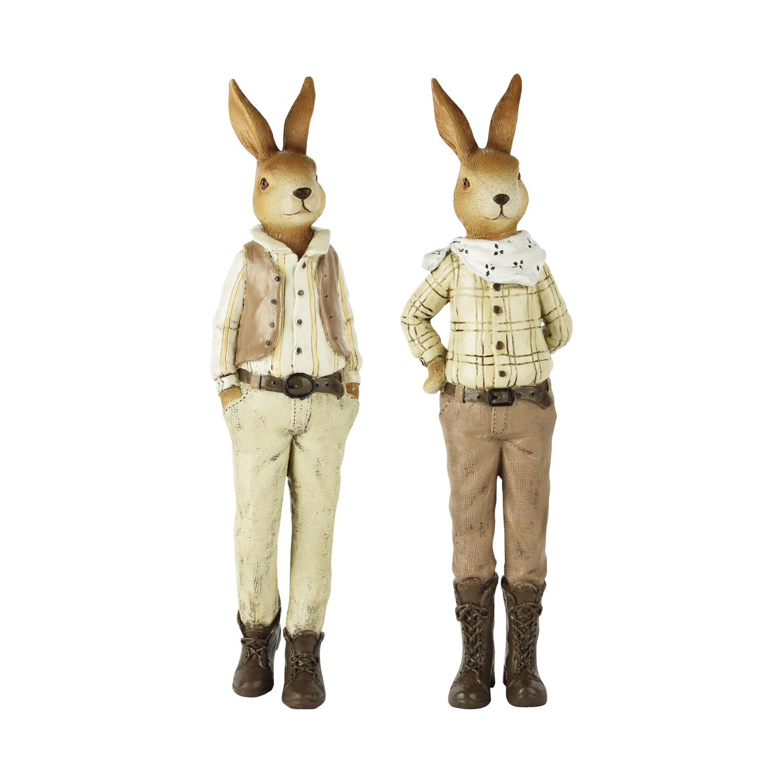 Duo stoere konijnen bruin