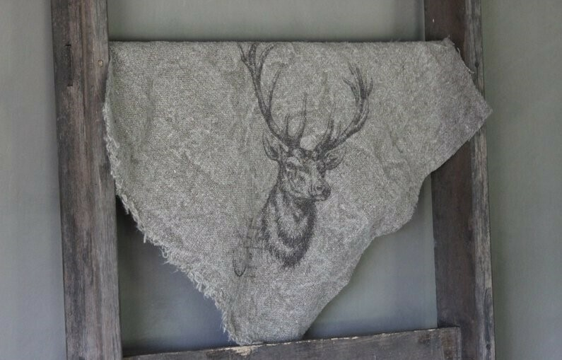 Doek shabby rendier 45 x 45 cm