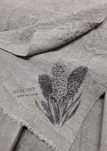 Doek shabby Hyacint 45 x 45 cm