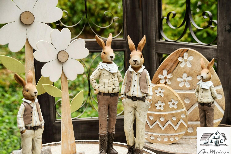 Duo stoere konijnen bruin groot